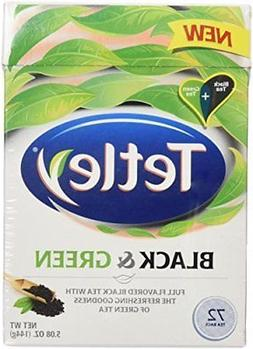 Tetley Tea Bags, Black and Green, 72 Count )