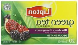 Lipton Tea Bags Green Tea Decaffeinated, Superfruit Blackber