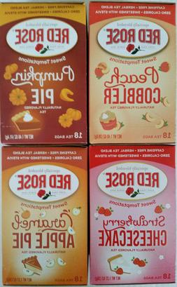 Red Rose Tea Bags Peach Pumpkin Strawberry Apple - You Pick