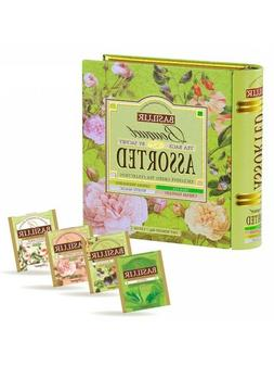 Basilur Tea Book  - Bouquet Assorted - 4 types of Floral Gre