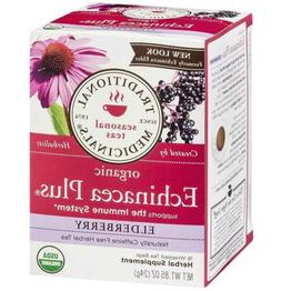 Traditional Medicinals Tea Echinacea Elder Or