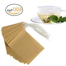 ANPHSIN 600 Pieces Empty Tea Filter Bags, Large Size 3.5 x 2