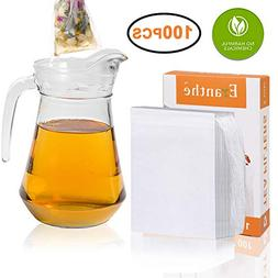 100Pcs Tea Filter Bags Large, Disposable Empty Tea Bag with
