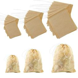 Coobey 300 Pack Tea Filter Bags Disposable Tea Infuser Draws