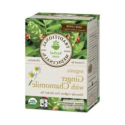 Traditional Medicinals Tea Ginger Chamomile, 16 ct