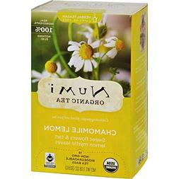 Numi Tea Herbal Tea - Chamomile Lemon - Caffeine Free - 18 B