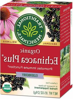 TEA ORGANIC ECHINACEA PLUS w/ ELDERBERRY Seasonal Traditiona