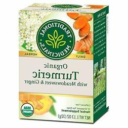 Traditional Medicinals Tea Turmeric Midwest Ginger Organic,