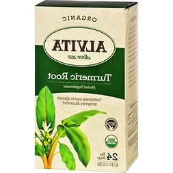 Alvita Teas Organic Herbal Tumeric Tea - 24 Bags - Herbal Su