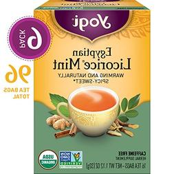 Yogi Teas Tea Egyptn Licorice Mint Org3