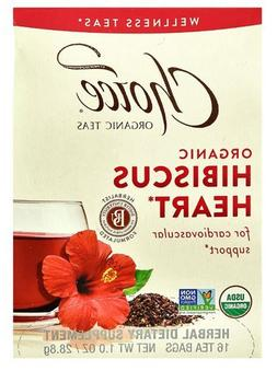 Choice Organic Teas Wellness Teas Hibiscus Heart -- 16 Tea B