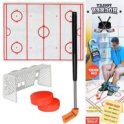 Pausseo Toilet Hockey Game Toy- Decompression Fun Game Ice-H