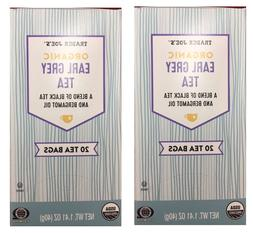 Trader Joe's  Organic Earl Grey Tea, 2 Boxes