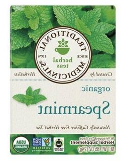 Traditional Medicinals Organic Spearmint herbal tea, Fair Tr