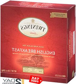 Twinings of London English Breakfast Black Tea Bags, 100 Cou