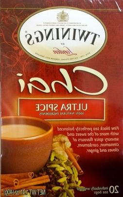 Twinings Ultra Spice Chai Black Tea  2 Pack