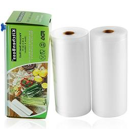 """Vacuum Sealer Rolls 2 Pack 8"""" x50' with Cutter Box Commercia"""