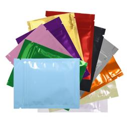 Variety of Colors for 100 PCS Shiny Metallic Mylar Zip Lock