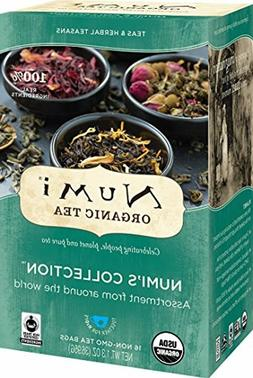Numi Organic Tea Variety Pack, 16 Bags, Numi's Collection As