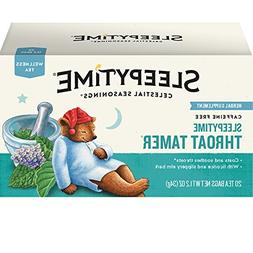 Celestial Seasonings Wellness Tea, Sleepytime Throat Tamer,