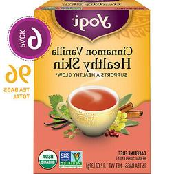 Yogi Tea - Cinnamon Vanilla Healthy Skin - 6 Pack, 96 Tea Ba