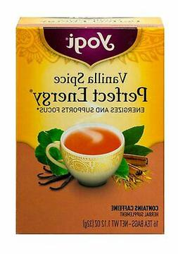 Yogi Tea, Perfect Energy, Vanilla Spice, 16 Tea Bags, 1.12 O