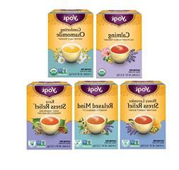 Yogi Tea Relaxation Variety Pack - 5 Different Stress Reliev