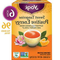 Yogi Tea - Sweet Tangerine Positive Energy - 6 Pack, 96 Tea