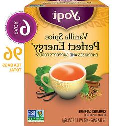 Yogi Tea - Vanilla Spice Perfect Energy - 6 Pack, 96 Tea Bag